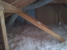 attic insulation after clean-up 2