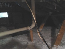 attic insulation after clean-up
