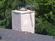 excluder trap on chimney