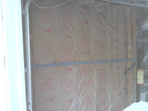 wall insulation after clean-up